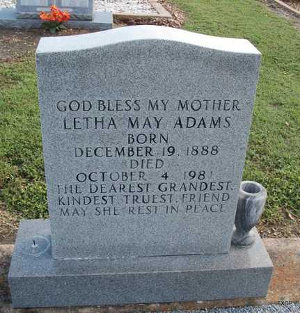 ADAMS, LETHA MAY - Lavaca County, Texas | LETHA MAY ADAMS - Texas Gravestone Photos