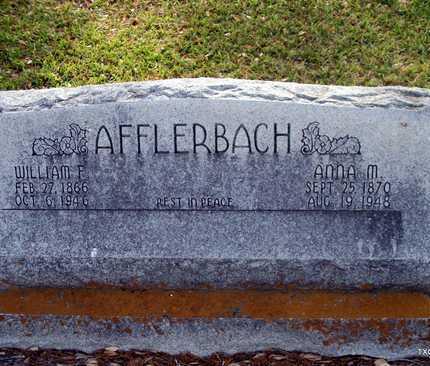 AFFLERBACH, WILLIAM FREDERICK - Lavaca County, Texas | WILLIAM FREDERICK AFFLERBACH - Texas Gravestone Photos