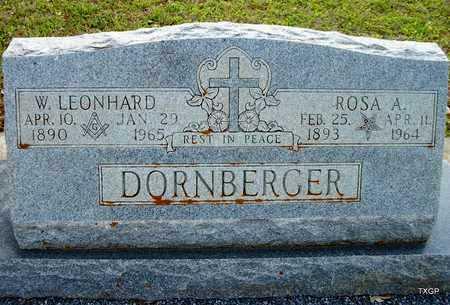 DORNBERGER, ROSA - Lavaca County, Texas | ROSA DORNBERGER - Texas Gravestone Photos