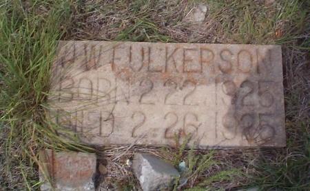 FULKERSON, J. W. - Lavaca County, Texas | J. W. FULKERSON - Texas Gravestone Photos