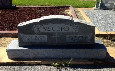 MCCORD, LEE GREEN - Lavaca County, Texas | LEE GREEN MCCORD - Texas Gravestone Photos