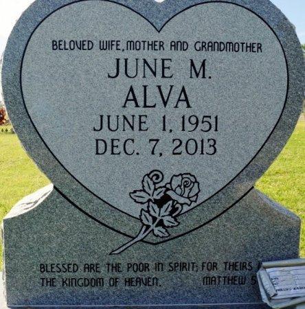 ALVA, JUNE M. - Lee County, Texas   JUNE M. ALVA - Texas Gravestone Photos
