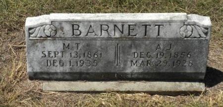 BARNETT, A. J. - Lee County, Texas | A. J. BARNETT - Texas Gravestone Photos