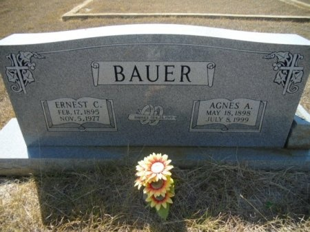 LEUTZ BAUER, AGNES AMELIA - Lee County, Texas | AGNES AMELIA LEUTZ BAUER - Texas Gravestone Photos
