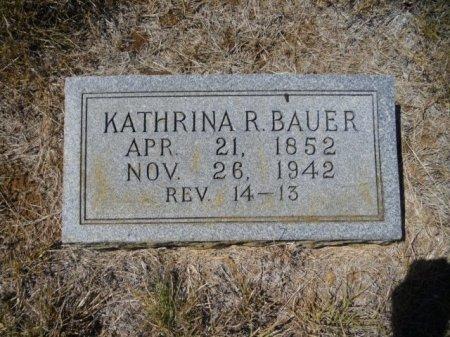 SCHIMMEL BAUER, KATHRINA ROSINA - Lee County, Texas | KATHRINA ROSINA SCHIMMEL BAUER - Texas Gravestone Photos
