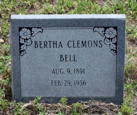 CLEMONS BELL, BERTHA - Lee County, Texas | BERTHA CLEMONS BELL - Texas Gravestone Photos