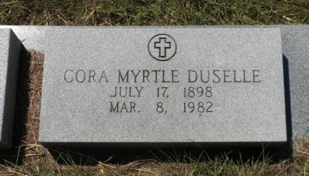 DUSELLE, CORA MYRTLE - Lee County, Texas   CORA MYRTLE DUSELLE - Texas Gravestone Photos