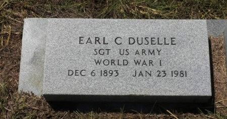 DUSELLE (VETERAN WWI), EARL C  - Lee County, Texas   EARL C  DUSELLE (VETERAN WWI) - Texas Gravestone Photos