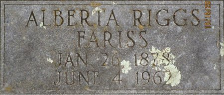 FARISS, ALBERTA ALICE - Lee County, Texas   ALBERTA ALICE FARISS - Texas Gravestone Photos