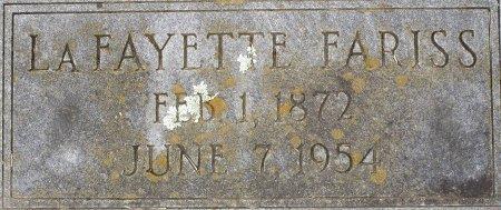 FARISS, LAFAYETTE - Lee County, Texas | LAFAYETTE FARISS - Texas Gravestone Photos