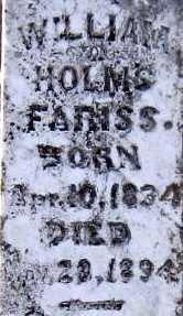 FARISS, WILLIAM HOLMES - Lee County, Texas   WILLIAM HOLMES FARISS - Texas Gravestone Photos