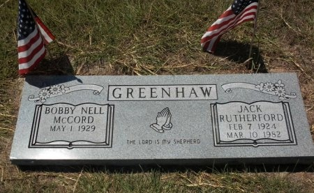 GREENHAW, JACK RUTHERFORD - Lee County, Texas | JACK RUTHERFORD GREENHAW - Texas Gravestone Photos