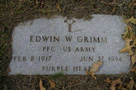 GRIMM (VETERAN), EDWIN W - Lee County, Texas | EDWIN W GRIMM (VETERAN) - Texas Gravestone Photos