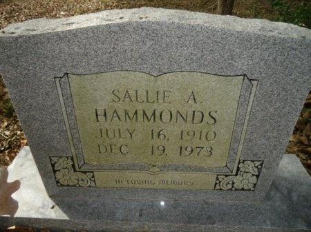 HAMMONDS, SALLIE A. - Lee County, Texas | SALLIE A. HAMMONDS - Texas Gravestone Photos