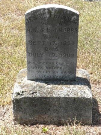 HOBBS, JESSIE FRANKLIN - Lee County, Texas | JESSIE FRANKLIN HOBBS - Texas Gravestone Photos