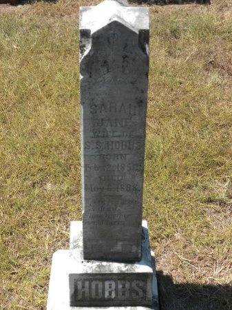 TURNER HOBBS, SARAH JANE - Lee County, Texas   SARAH JANE TURNER HOBBS - Texas Gravestone Photos