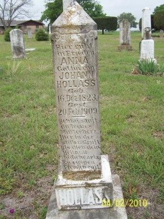 HOLLASS, ANNA HANNA - Lee County, Texas | ANNA HANNA HOLLASS - Texas Gravestone Photos