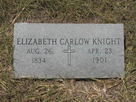 GRAY KNIGHT, ELIZABETH CARLOW - Lee County, Texas | ELIZABETH CARLOW GRAY KNIGHT - Texas Gravestone Photos