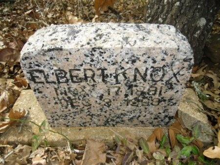 KNOX, ELBERT - Lee County, Texas   ELBERT KNOX - Texas Gravestone Photos