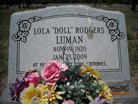 "RODGERS LUMAN, LOLA ""DOLL"" - Lee County, Texas | LOLA ""DOLL"" RODGERS LUMAN - Texas Gravestone Photos"