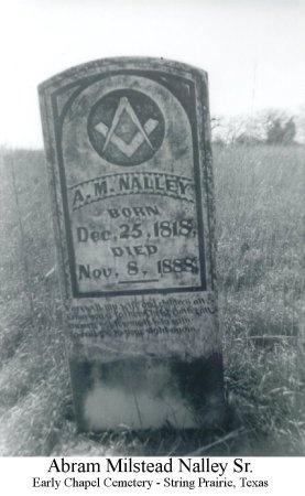 NALLEY, SR., ABRAM MILSTEAD - Lee County, Texas | ABRAM MILSTEAD NALLEY, SR. - Texas Gravestone Photos
