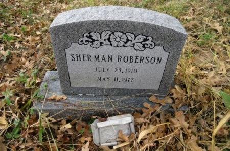 ROBERSON, SHERMAN - Lee County, Texas | SHERMAN ROBERSON - Texas Gravestone Photos