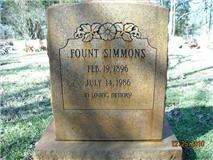 SIMMONS, FOUNT - Lee County, Texas | FOUNT SIMMONS - Texas Gravestone Photos