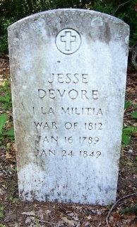 DEVORE (VETERAN 1812), JESSE - Liberty County, Texas | JESSE DEVORE (VETERAN 1812) - Texas Gravestone Photos