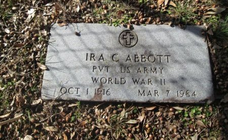 ABBOTT (VETERAN WWII), IRA CARLTON - Limestone County, Texas | IRA CARLTON ABBOTT (VETERAN WWII) - Texas Gravestone Photos