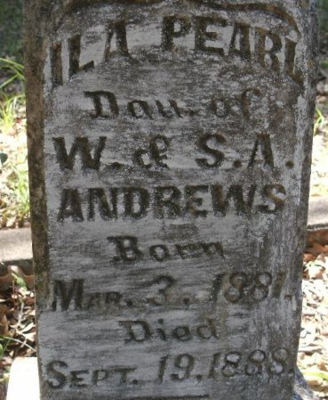 ANDREWS, ILA PEARL (CLOSE UP) - Limestone County, Texas | ILA PEARL (CLOSE UP) ANDREWS - Texas Gravestone Photos