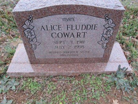 COWART, ALICE FLUDDIE - Limestone County, Texas | ALICE FLUDDIE COWART - Texas Gravestone Photos
