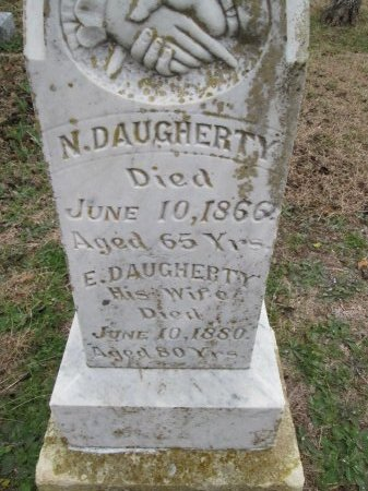 DAUGHERTY, E. (CLOSEUP) - Limestone County, Texas | E. (CLOSEUP) DAUGHERTY - Texas Gravestone Photos