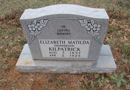 HENDERSON KILPATRICK, ELIZABETH MATILDA - Limestone County, Texas | ELIZABETH MATILDA HENDERSON KILPATRICK - Texas Gravestone Photos