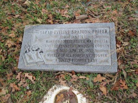 BRATTON PHIFER, SARAH EVELINE - Limestone County, Texas | SARAH EVELINE BRATTON PHIFER - Texas Gravestone Photos