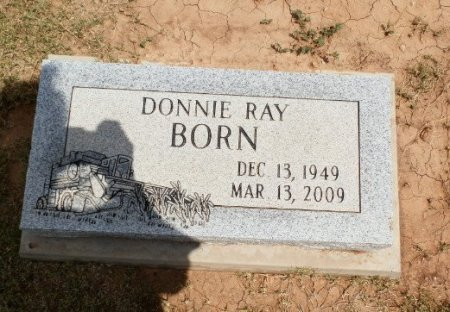BORN, DONNY RAY - Lipscomb County, Texas | DONNY RAY BORN - Texas Gravestone Photos