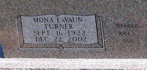 BUSSARD, MONA LAVAUN (CLOSE UP) - Lipscomb County, Texas   MONA LAVAUN (CLOSE UP) BUSSARD - Texas Gravestone Photos