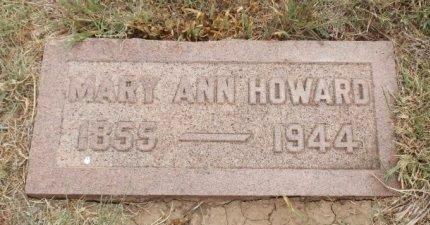 HOWARD, MARY ANN - Lipscomb County, Texas | MARY ANN HOWARD - Texas Gravestone Photos