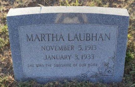 LAUBHAN, MARTHA - Lipscomb County, Texas | MARTHA LAUBHAN - Texas Gravestone Photos