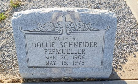 PEPMUELLER, DOLLIE - Lipscomb County, Texas | DOLLIE PEPMUELLER - Texas Gravestone Photos