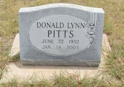 PITTS, DONALD LYNN - Lipscomb County, Texas | DONALD LYNN PITTS - Texas Gravestone Photos