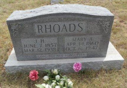 RHOADS, J. H. - Lipscomb County, Texas | J. H. RHOADS - Texas Gravestone Photos