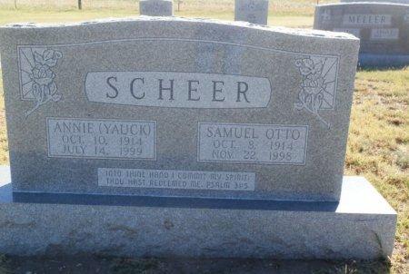 SCHEER, SAMUEL OTTO - Lipscomb County, Texas | SAMUEL OTTO SCHEER - Texas Gravestone Photos