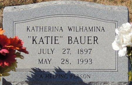 BAUER, KATHERINA WILHAMINA - Llano County, Texas | KATHERINA WILHAMINA BAUER - Texas Gravestone Photos