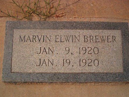 BREWER, MARVIN ELWIN - Llano County, Texas | MARVIN ELWIN BREWER - Texas Gravestone Photos