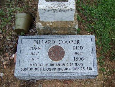 COOPER (VETERAN MAW), DILLARD - Llano County, Texas | DILLARD COOPER (VETERAN MAW) - Texas Gravestone Photos
