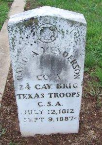 HENDERSON (VETERAN CSA), DAVID A. - Llano County, Texas | DAVID A. HENDERSON (VETERAN CSA) - Texas Gravestone Photos