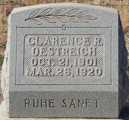 OESTREICH, CLARENCE R. - Llano County, Texas | CLARENCE R. OESTREICH - Texas Gravestone Photos