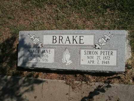 BRAKE, SIMON PETER - Lubbock County, Texas | SIMON PETER BRAKE - Texas Gravestone Photos