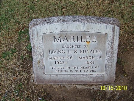 JONES, MARILEE - Lubbock County, Texas | MARILEE JONES - Texas Gravestone Photos