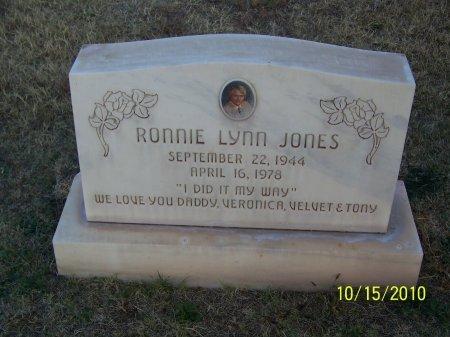 JONES, RONNIE LYNN - Lubbock County, Texas   RONNIE LYNN JONES - Texas Gravestone Photos